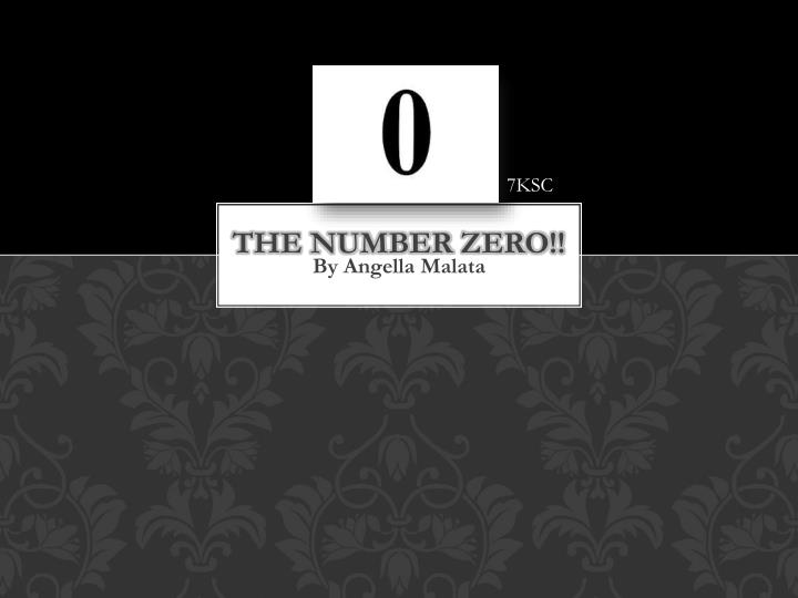 the number zero n.