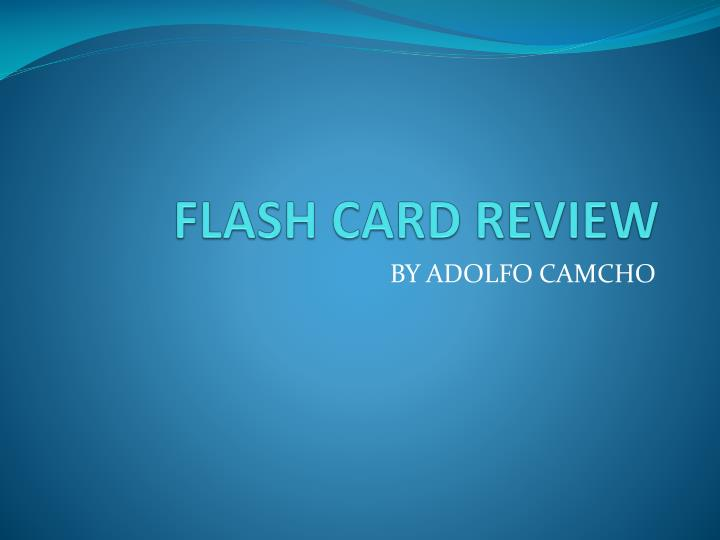 flash card review n.