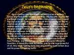 zeus s beginning