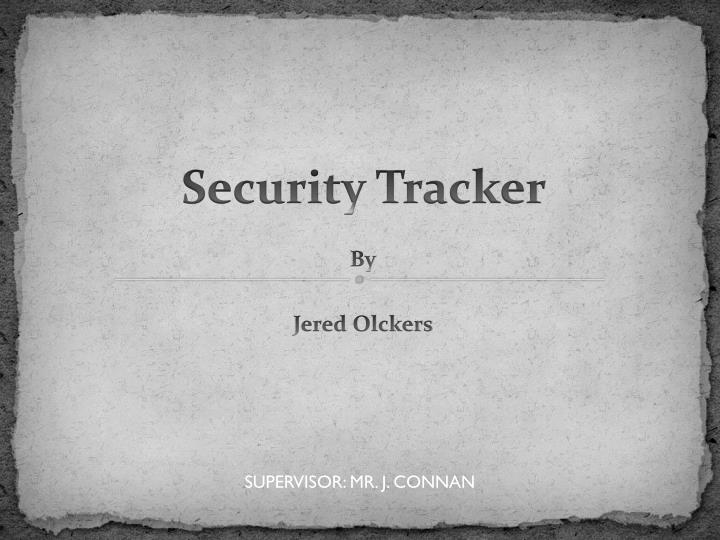 security tracker n.