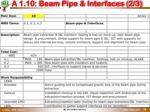 a 1 10 beam pipe interfaces 2 3