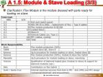 a 1 5 module stave loading 3 3
