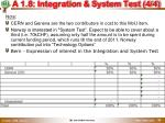a 1 8 integration system test 4 4