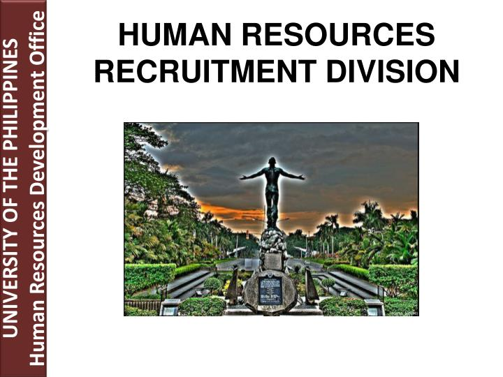 human resources recruitment division n.