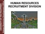 human resources recruitment division