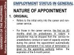 nature of appointment