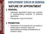 nature of appointment1