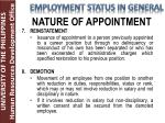 nature of appointment4