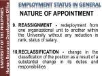 nature of appointment5
