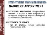 nature of appointment6