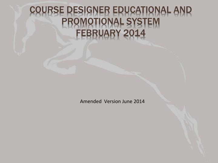 course designer educational and promotional system february 2014 n.