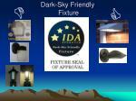 dark sky friendly fixture