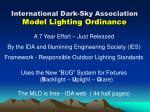 international dark sky association model lighting ordinance