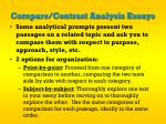 compare contrast analysis essays