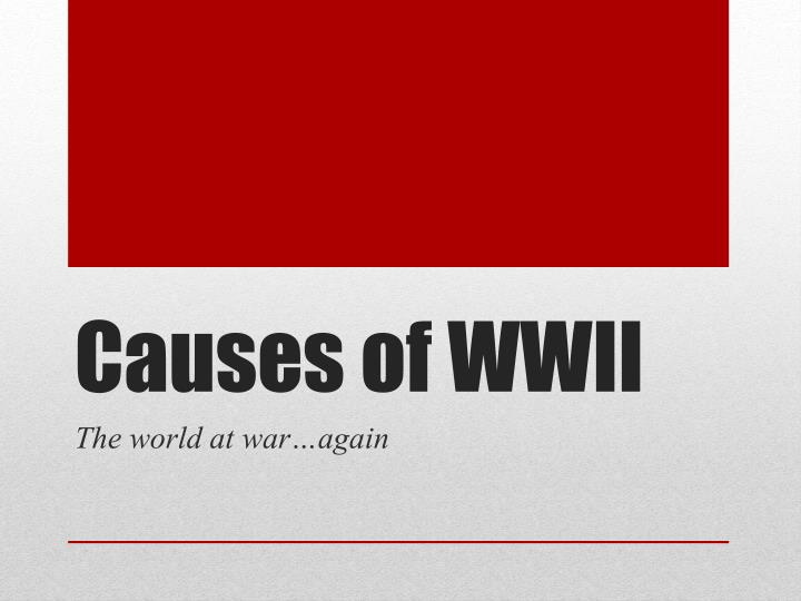causes of wwii n.
