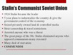 stalin s communist soviet union