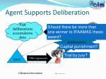 agent supports deliberation