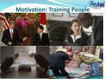 motivation training people