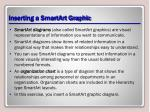 inserting a smartart graphic