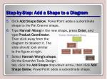 step by step add a shape to a diagram1