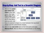step by step add text to a smartart diagram1
