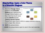 step by step apply a color theme to a smartart diagram1