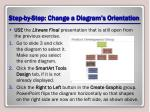 step by step change a diagram s orientation