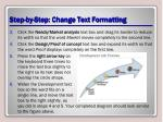 step by step change text formatting1