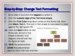 step by step change text formatting2