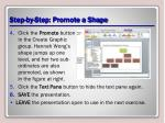 step by step promote a shape1