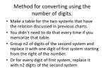 method for converting using the number of digits