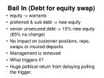 bail in debt for equity swap