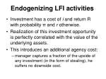 endogenizing lfi activities