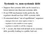 systemic vs non systemic debt