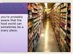 5 facts the food industry does not anybody know