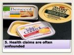 5 health claims are often unfounded