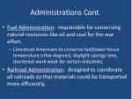 administrations cont