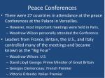 peace conferences