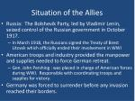 situation of the allies