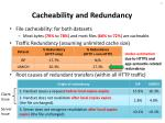 cacheability and redundancy