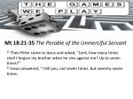 mt 18 21 35 the parable of the unmerciful servant