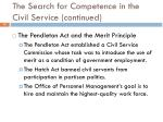 the search for competence in the civil service continued