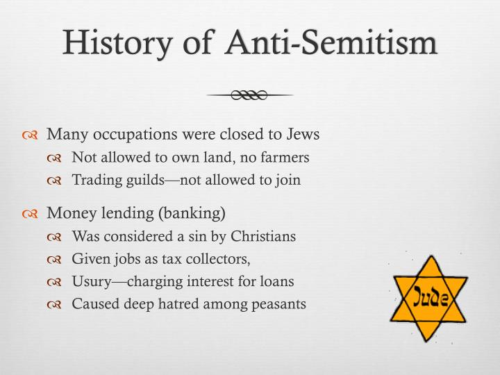 an introduction to anti semitism among christians Portive of the idea that jews need to be converted to christianity  introduction when it comes to anti-semitism the religious right falls under  two great.