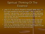 spiritual thinking of the essence