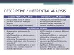 descriptive inferential analysis