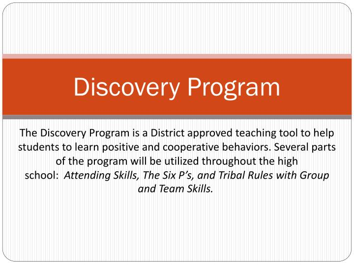 discovery program n.