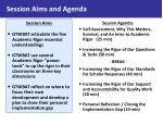 session aims and agenda