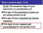 what is academic rigor eu 32