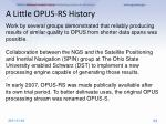 a little opus rs history1