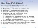 how does opus s work
